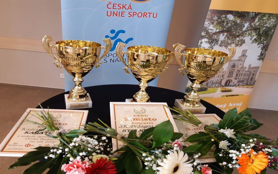 Ocenění vítězů ankety Sportovec okresu České Budějovice 2020